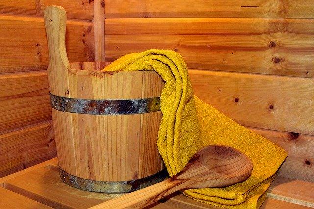 Eine Sauna in der Gartenlaube